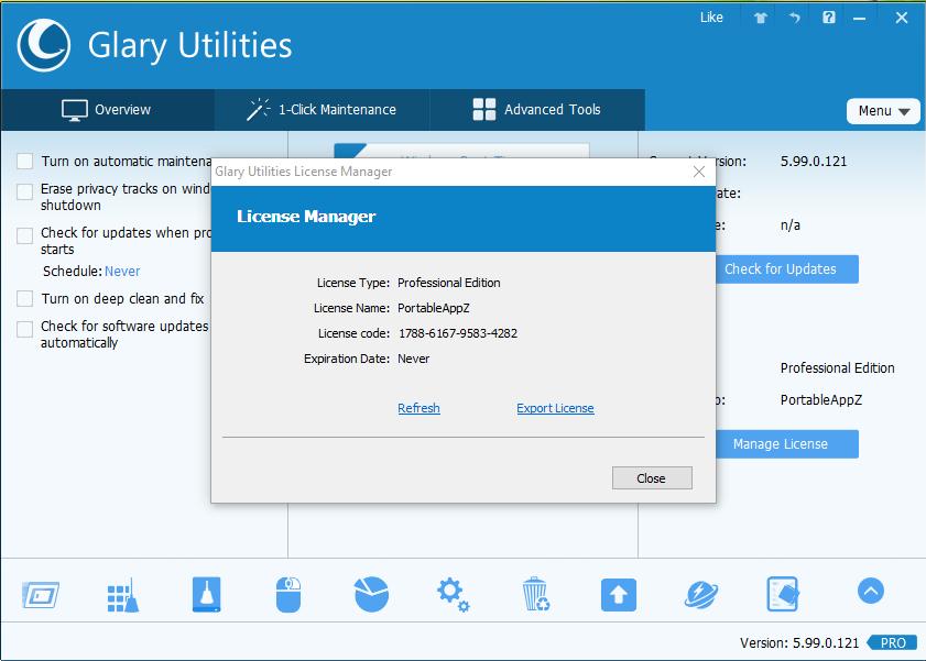 Glary Utilities PRO 5.99.0.121 License Key & Crack Full Download