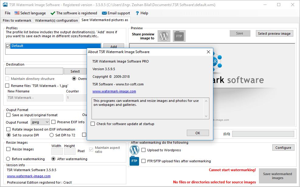 TSR Watermark Image Pro 3.5.9.5 Keygen & Activator Download