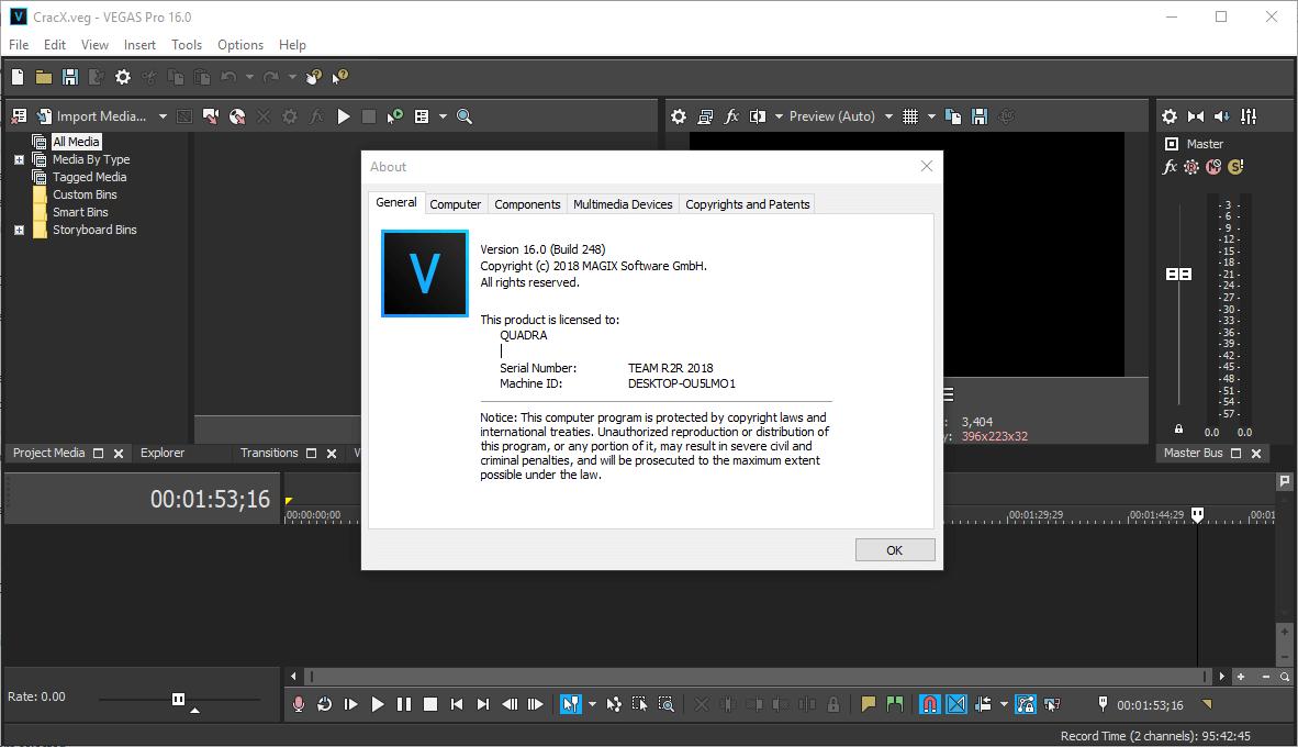 MAGIX Vegas Pro 16.0.0.248 Full Keygen & Activator Download