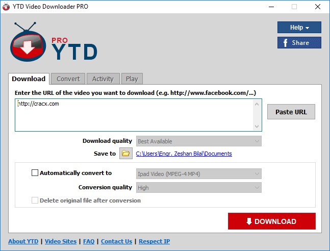 YTD Video Downloader Pro 5.9.10 License Key + Patch Download